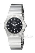 Omega 123.10.24.60.51.002 Constellation Quartz 24mm Musta/Teräs Ø24 mm 123.10.24.60.51.002