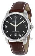 Certina C001.410.16.057.00 DS Podium Standard Musta/Nahka Ø38 mm C001.410.16.057.00