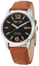 So & Co New York 5011L.1 Madison Musta/Nahka Ø42 mm 5011L.1