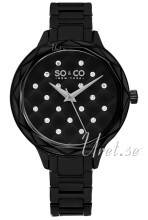 So & Co New York 5255.2 Lenox Musta/Teräs Ø38 mm 5255.2