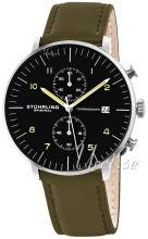 Stührling Original 803.02 Monaco Musta/Nahka Ø42 mm 803.02