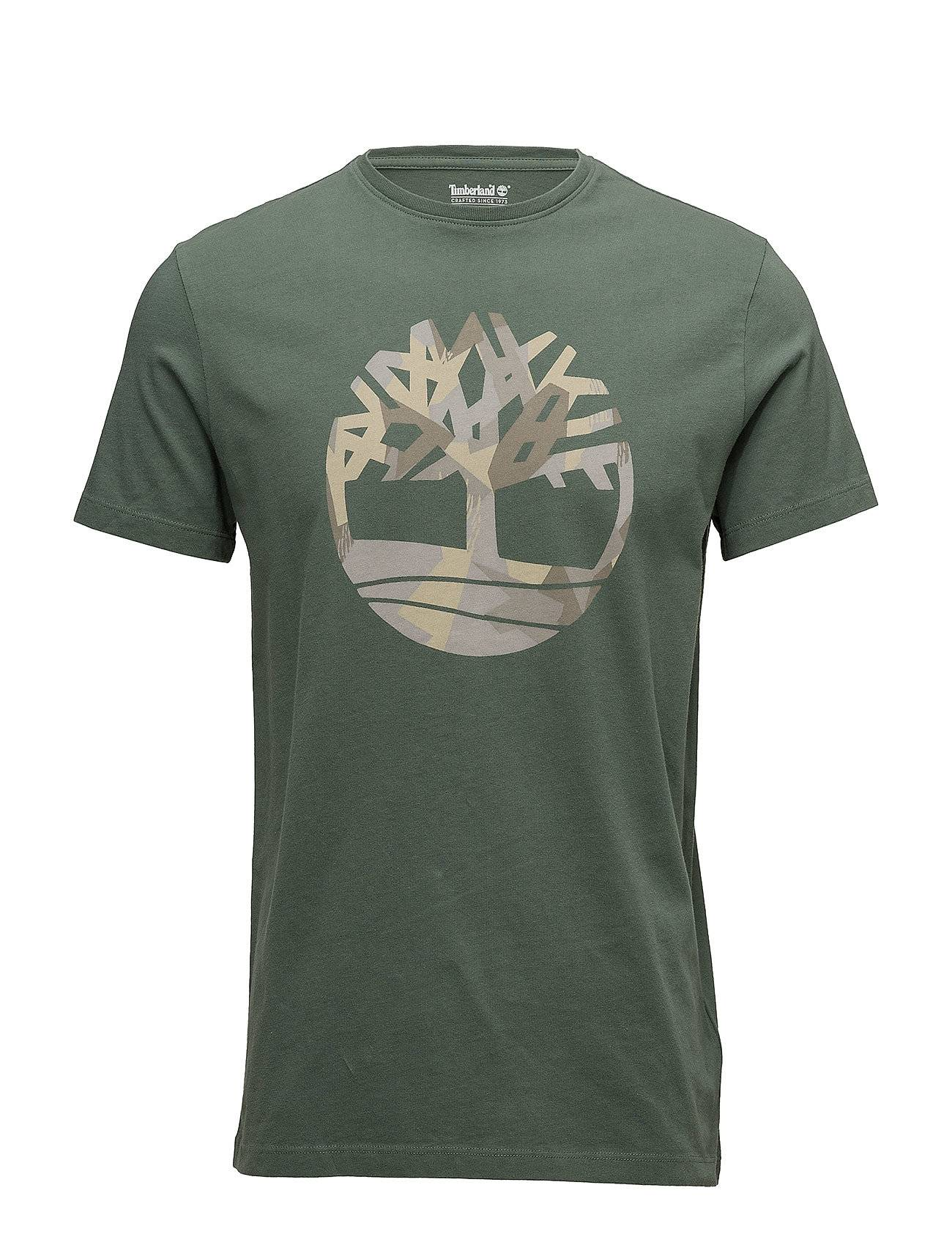 Timberland Ss Kennebec River Seasonal Pattern Brand Slim Tee (Tree & Li