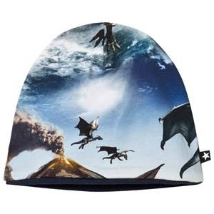 Molo Unisex Headwear Blue Ned Baby Hat Dragon Island