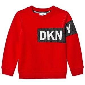 DKNY Boys Jumpers and knitwear Red Red Branded Sweatshirt