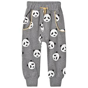Småfolk Boys Bottoms Grey Grey Panda Print Sweatpants