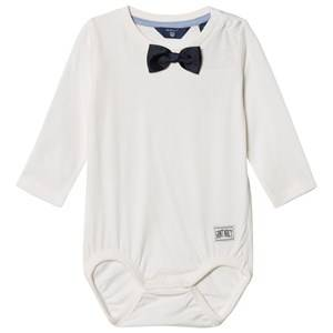 Gant Boys All in ones White Off White Bow Tie Baby Body
