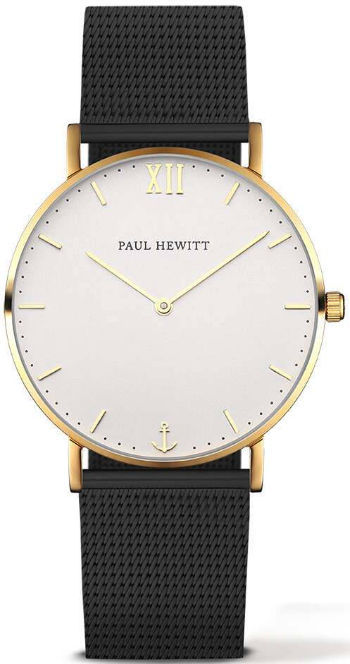 Paul Hewitt Sailor Line White Sand Gold Black 39mm
