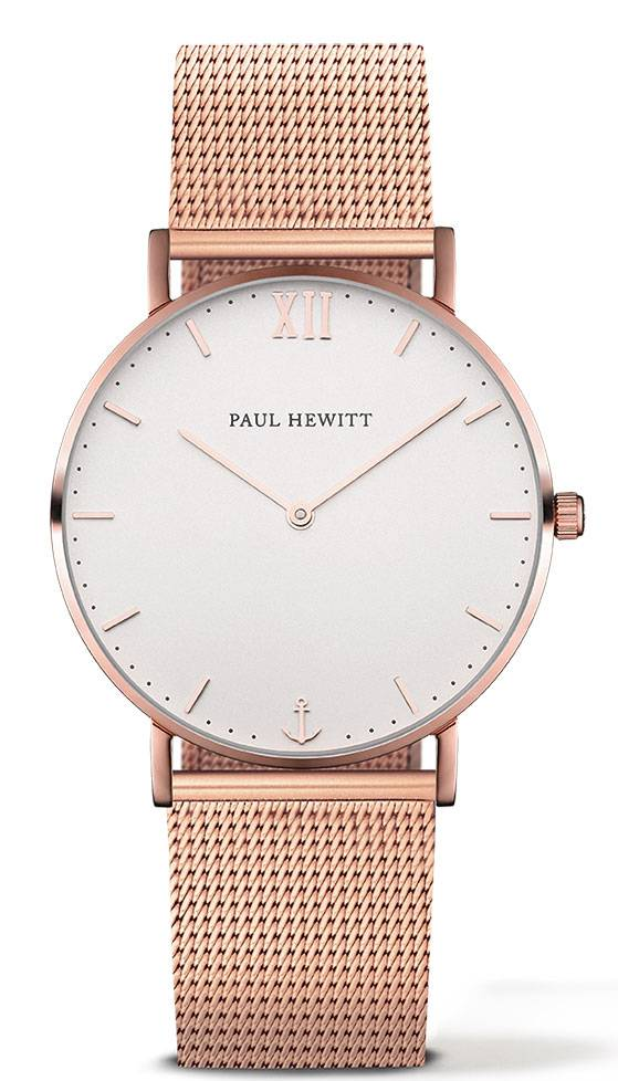 Paul Hewitt Sailor Line Rose Gold White Sand 39mm Metal