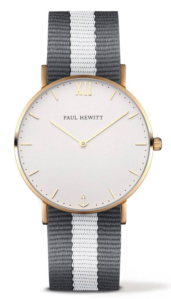 Paul Hewitt Sailor Line Gold White Sand 39mm Grey-White