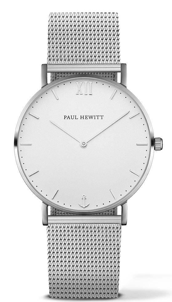 Paul Hewitt Sailor Line Silver White Sand 36mm Metal Silver