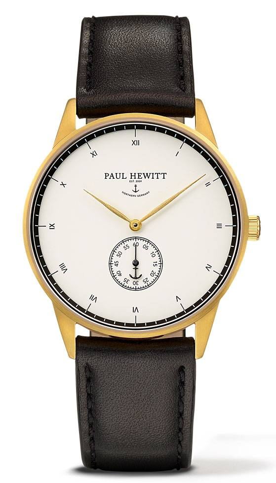 Paul Hewitt Signature Line Gold MARK I 38mm White Black