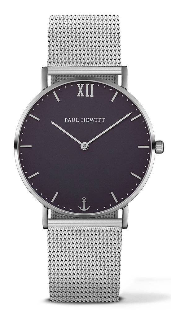 Paul Hewitt Sailor Line Silver 39mm Blue Lagoon Metal Silver
