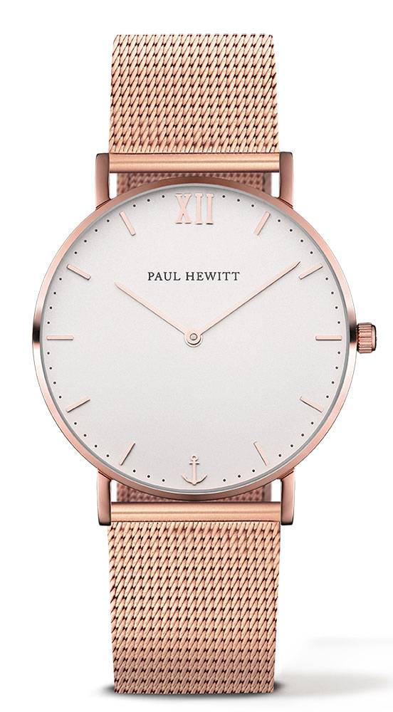 Paul Hewitt Sailor Line Rose Gold 39mm White Metal Rose Gold
