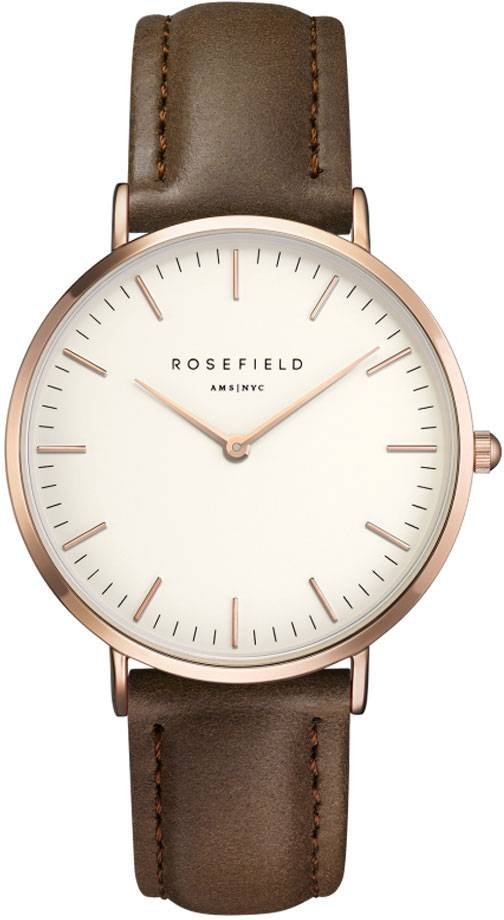 Rosefield Bowery BWBRR-B3 White - Brown - Rose Gold