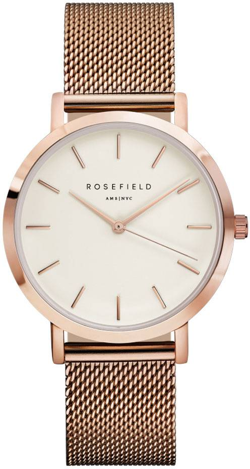Rosefield Mercer MWR-M42 White - Rose Gold