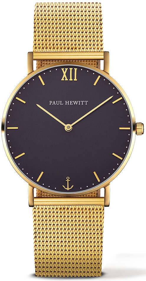 Paul Hewitt Sailor Line Blue Lagoon Gold 39mm