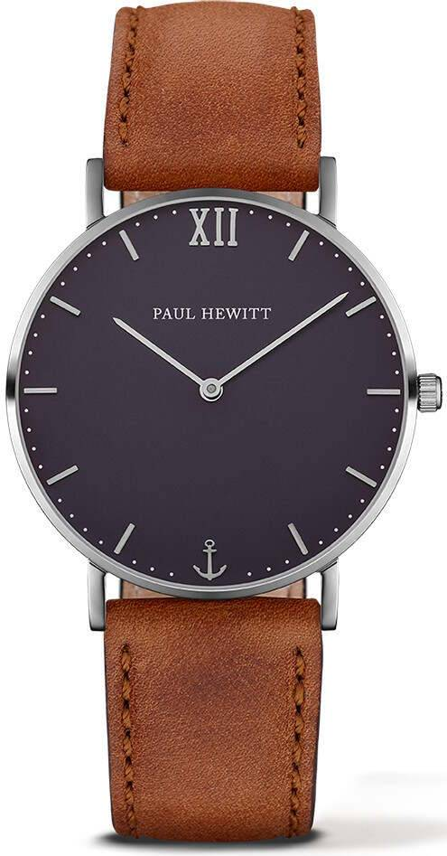 Paul Hewitt Sailor Line Blue Lagoon Leather Brown 39mm