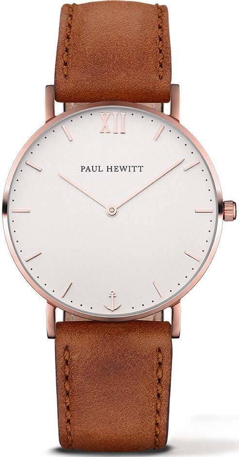 Paul Hewitt Sailor Line White Sand Rose Gold Brown 39mm