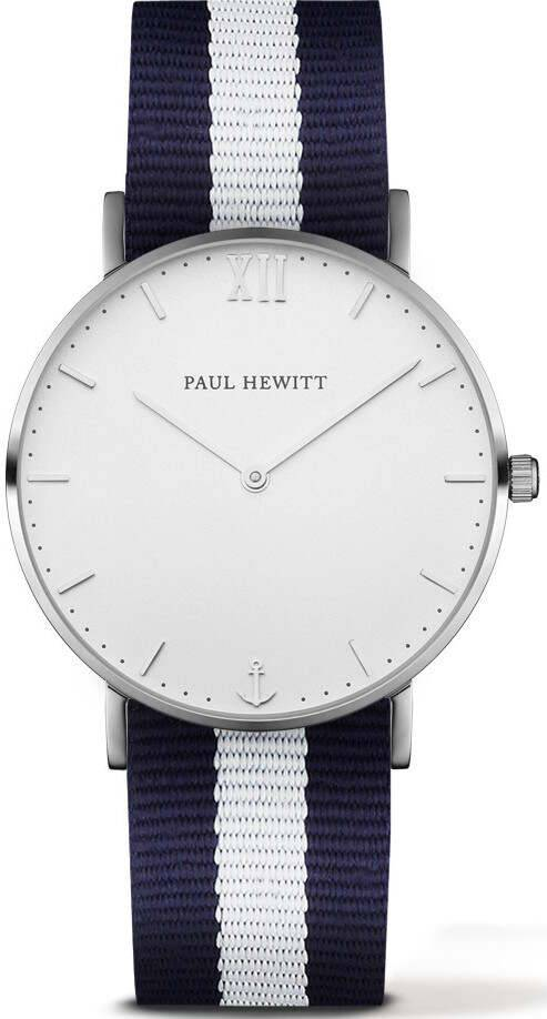 Paul Hewitt Sailor Line White Sand Silver White Blue 39mm