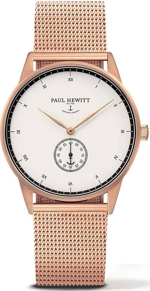 Paul Hewitt Signature Line White Ocean Rose Gold Metal 38mm