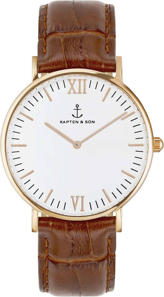 Kapten & Son Campina Brown Croco Leather
