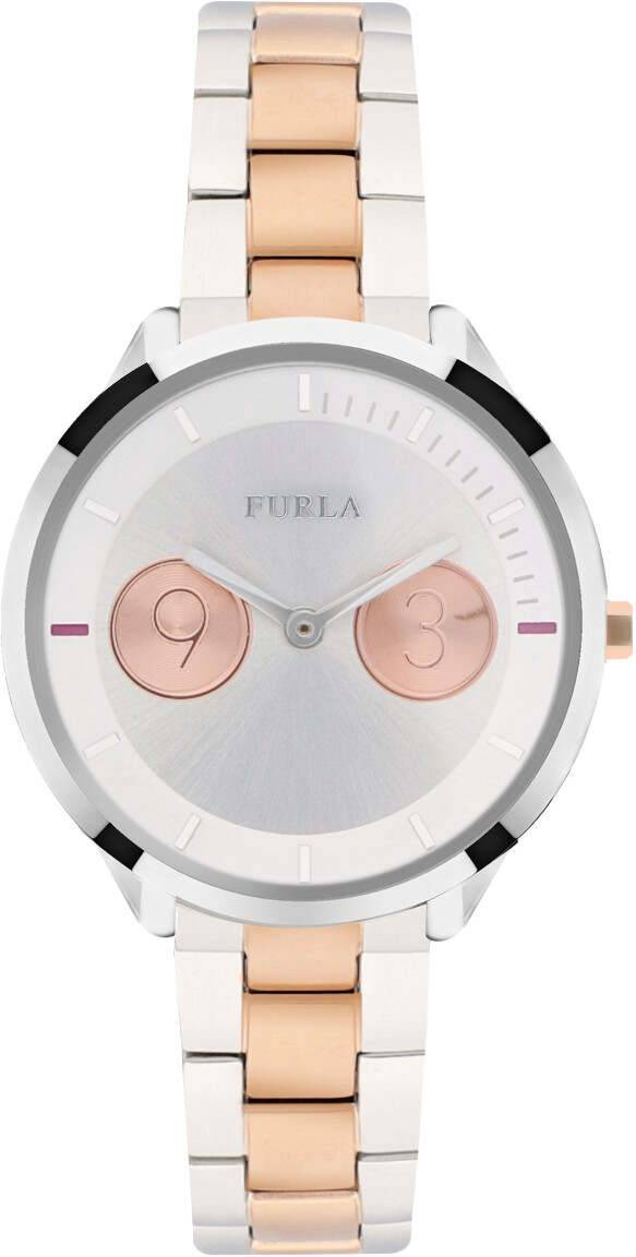 Furla Metropolis 31mm Steel and Pink Gold R4253102507