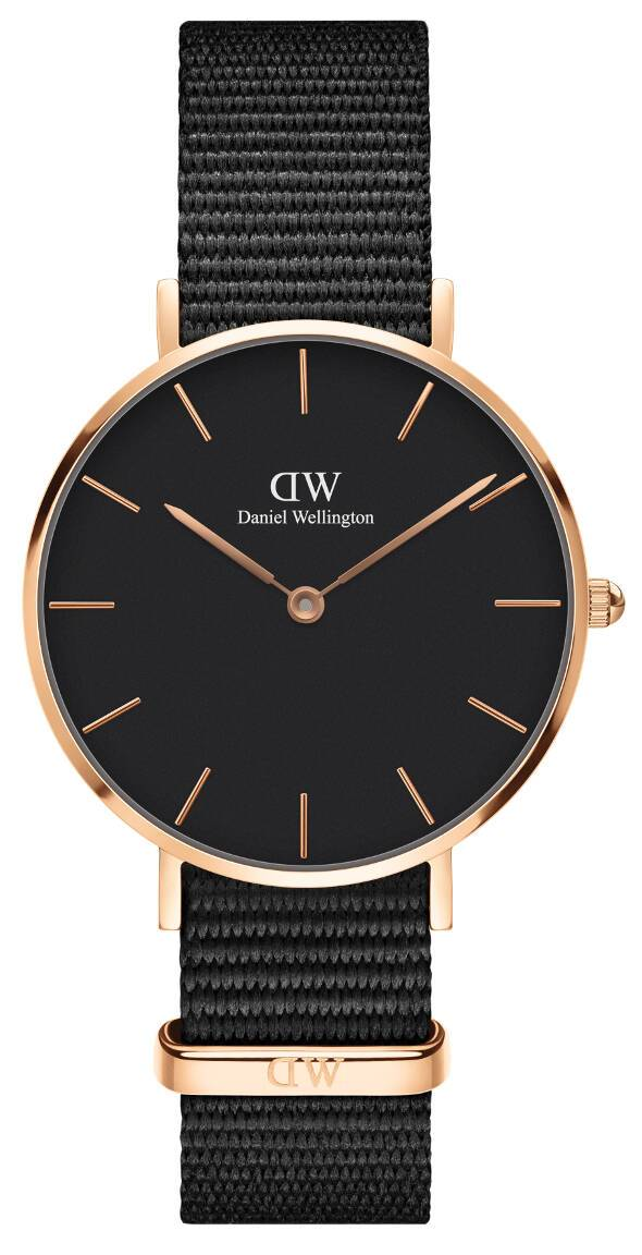 Daniel Wellington Petite Cornwall Rose Black 32mm DW00100215