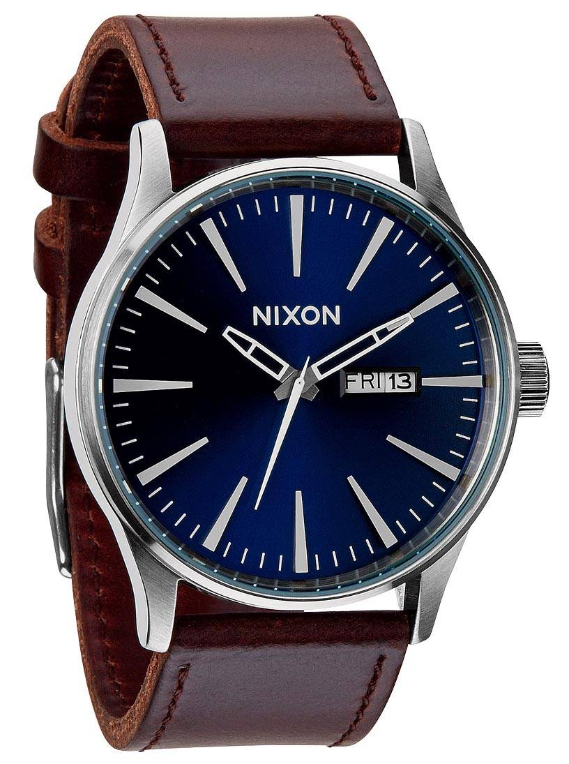 Nixon Sentry Leather Blue/Brown A105-1524