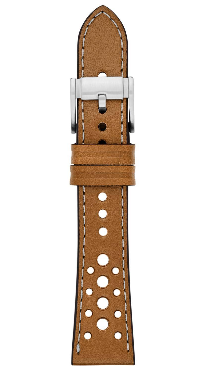 Fossil 22mm Brown Leather Strap S221248