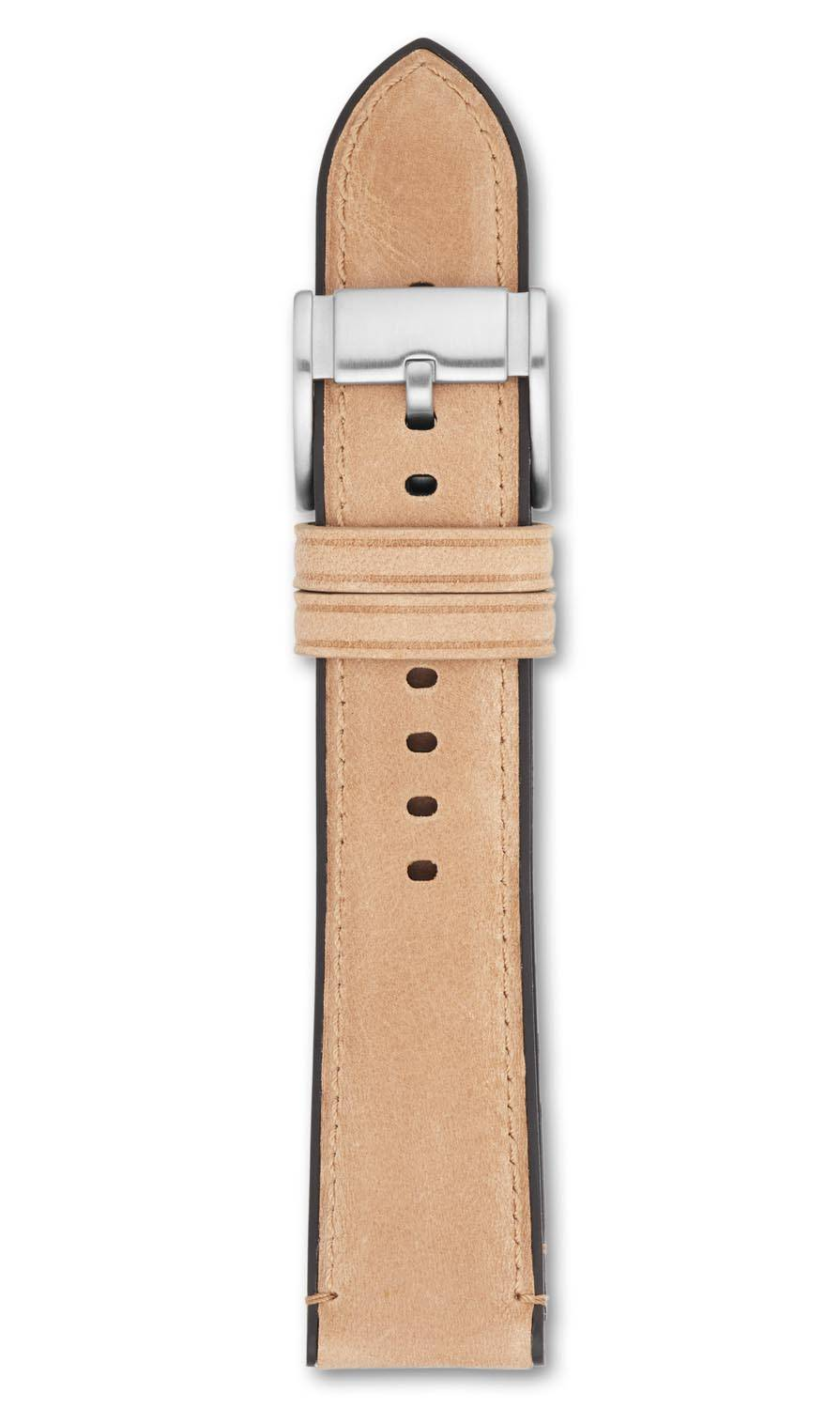 Fossil 22mm Brown Leather Strap S221298