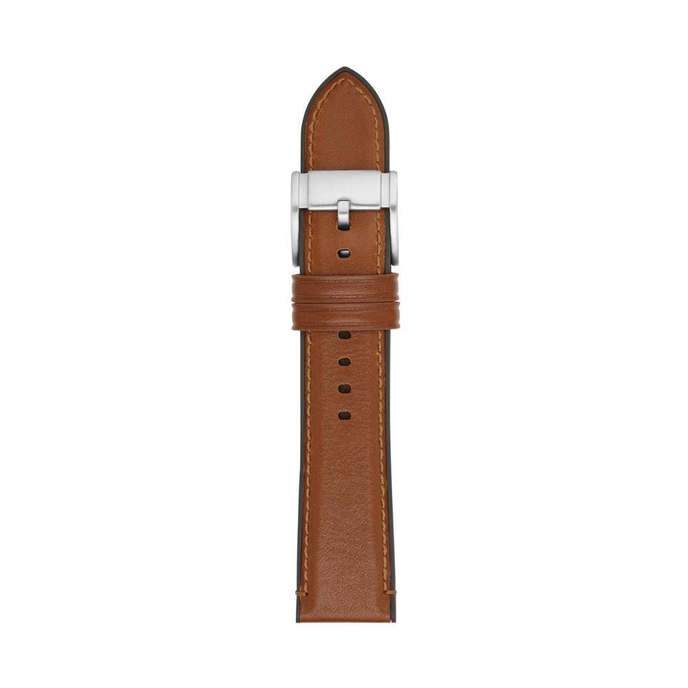 Fossil 22mm Brown Leather Watch Strap S221300