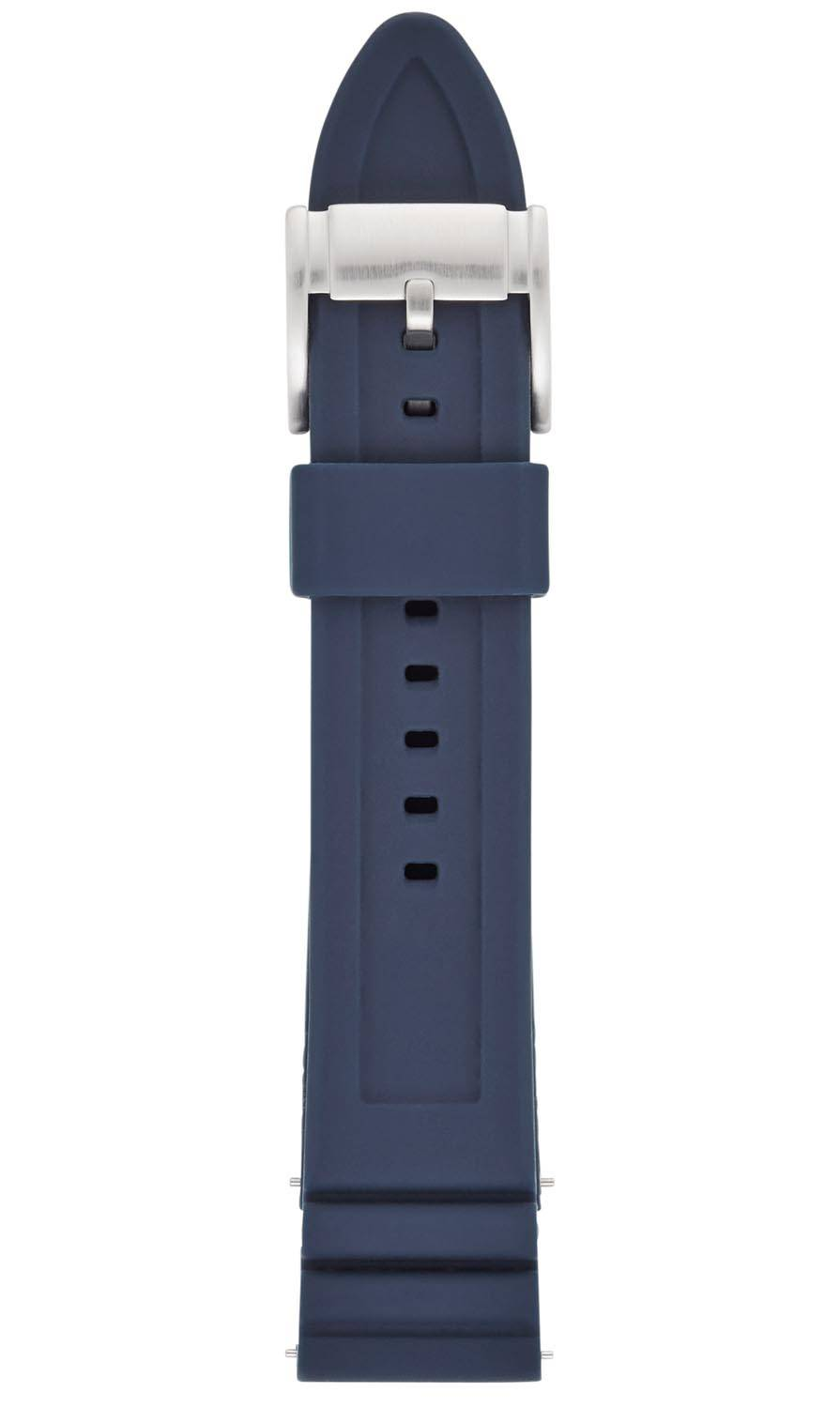 Fossil 22mm Blue Silicone Strap S221302