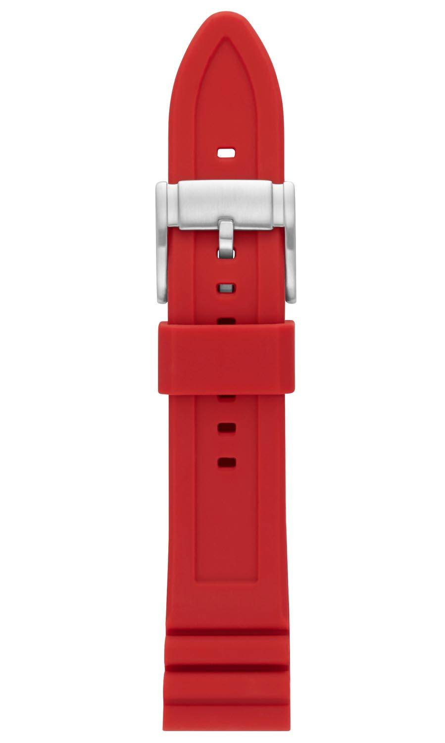 Fossil 22mm Red Silicone Strap S221318