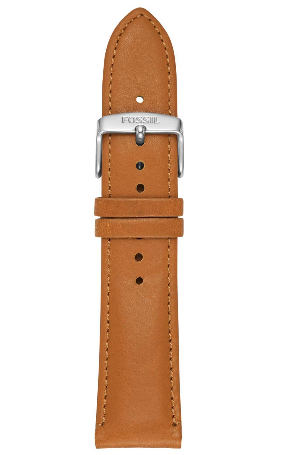 Fossil 22mm Brown Leather Strap S221344