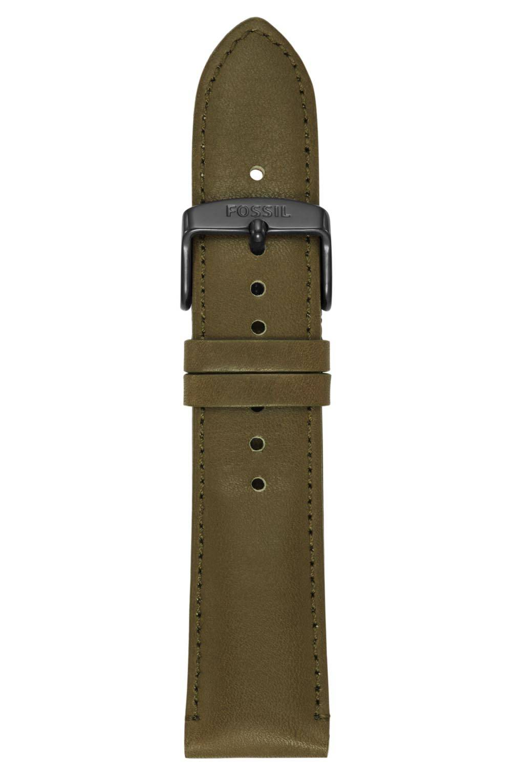 Fossil 22mm Green Leather Strap S221345