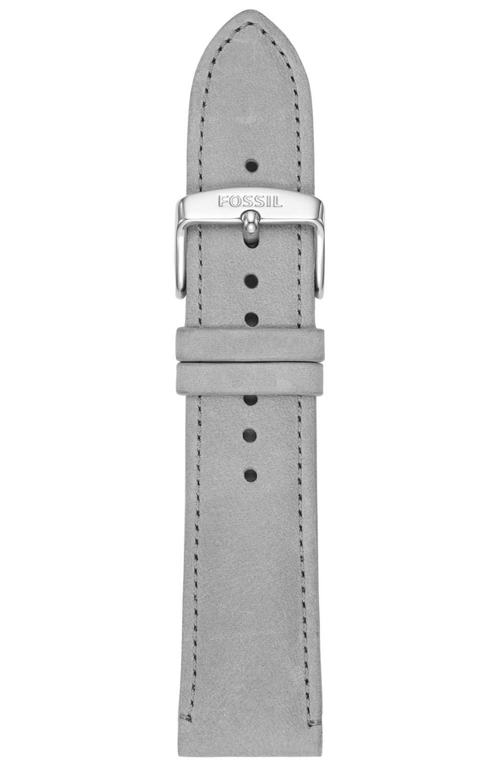 Fossil 22mm Gray Leather Strap S221346
