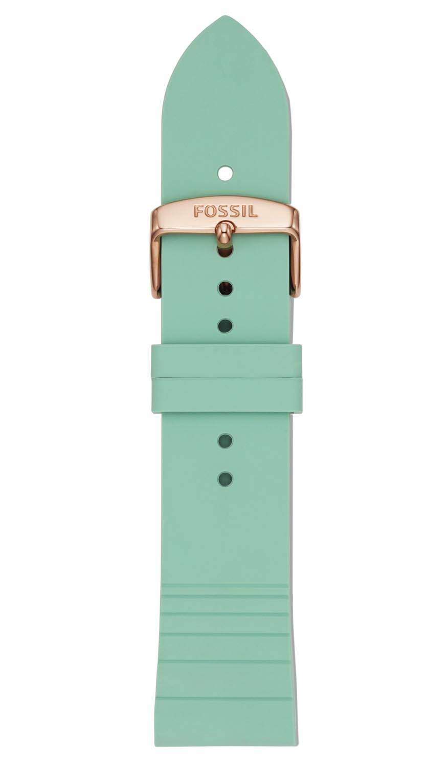 Fossil 22mm Mint Green Silicone Strap S221351