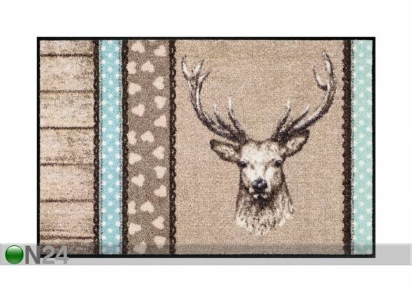Salonloewe Matto HIRSCH HOLZ PATCH 50x75 cm