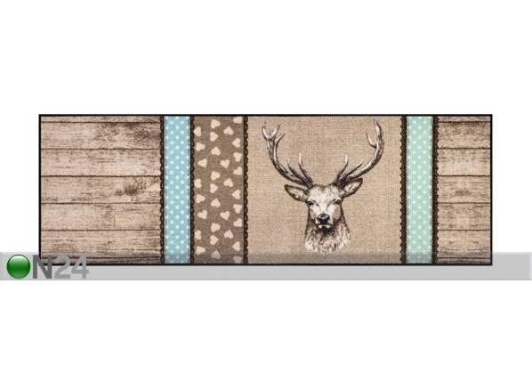 Salonloewe Matto HIRSCH HOLZ PATCH 60x180 cm